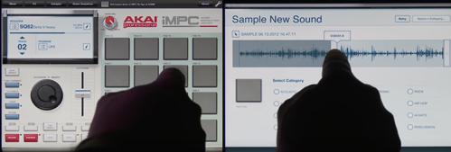 IMPC app pour tablette de beatmacking